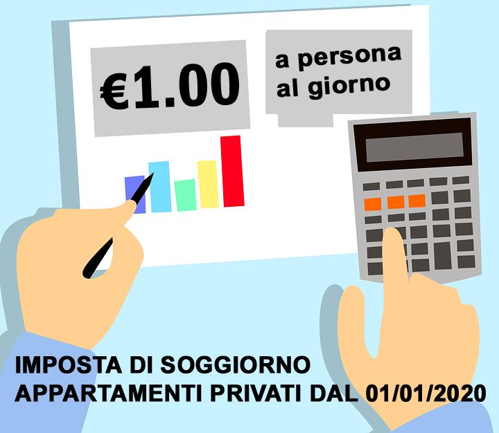 Tassa di soggiorno appartamenti turistici privati - 01/01/2021